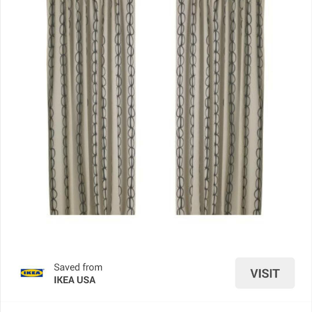 Vilmie Curtains Ikea 2 Sets For 10 Brand New Still In Package