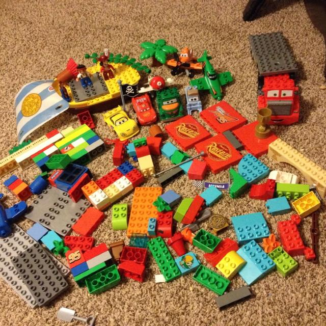 Find More Huge Lot Of Lego Duplo Disney Cars Planes Jake And The