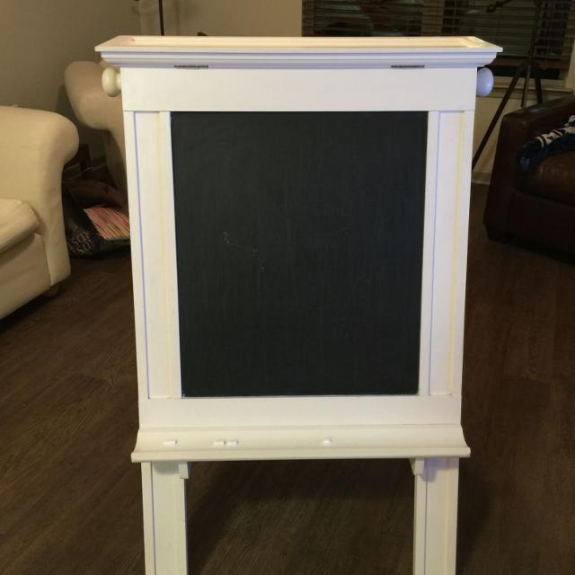 Find More Euc Pottery Barn Wood Easel 1 Side Chalk Board