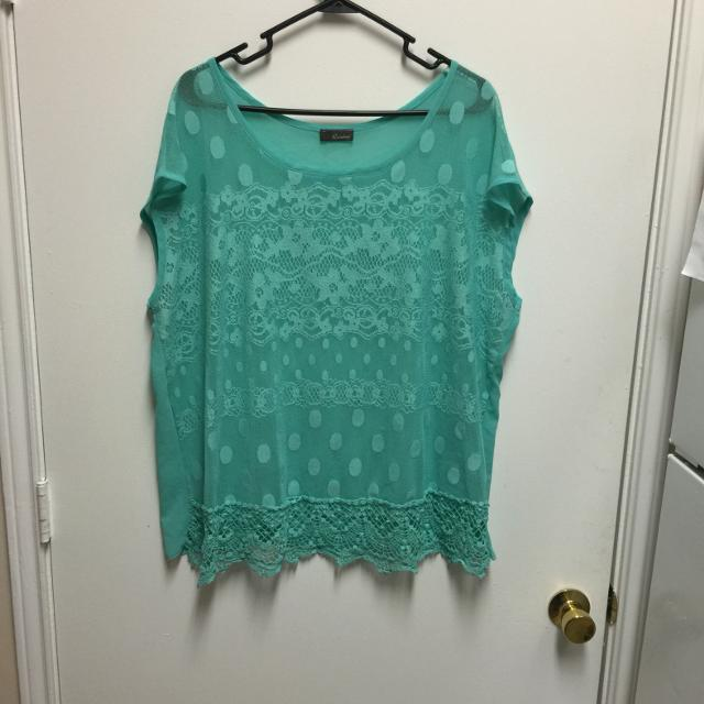e6af1b27c56 Find more Rainbow Plus Size 3x Sheer Top. Fits Like A 2x. Target ...