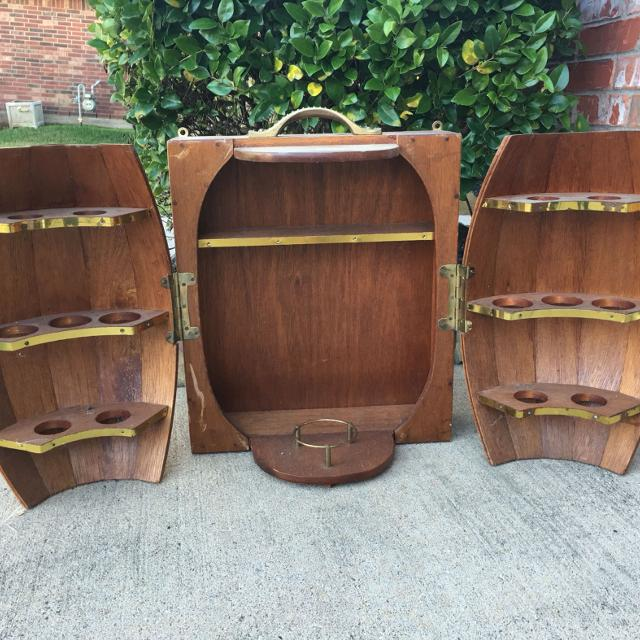 Find More Half Barrel Vintage Wood Amp Brass Liquor Wall