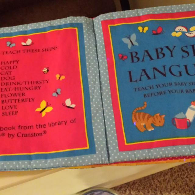 Best Fabric Baby Sign Language Book For Sale In Lee S Summit