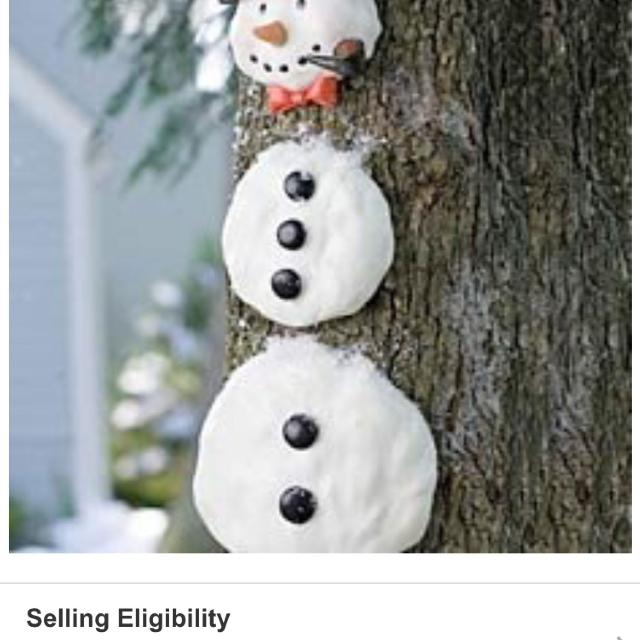 new in box 20 plow hearth snowman forest face decoration for tree