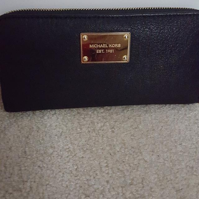 8be4420b2386 Find more Eguc Authentic Michael Kors Soft Black Leather Wallet ...