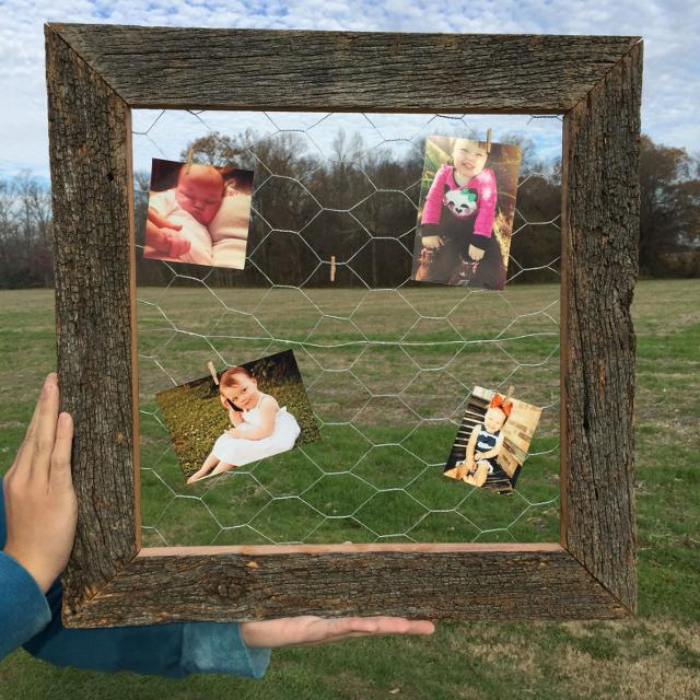 Find More Chicken Wire Frame Made From Barn Wood Super Cute Gift