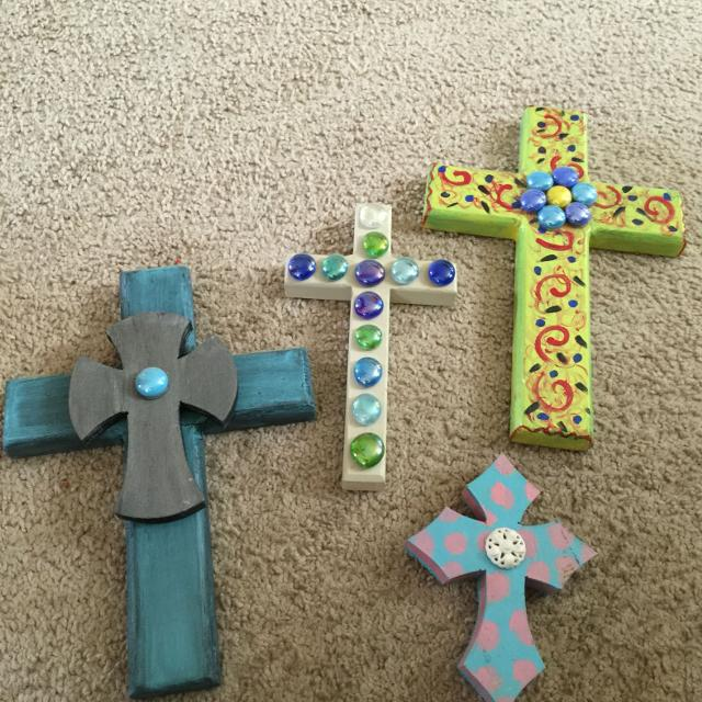 Handmade Wooden Crosses Will Sell Separate Or All Together 8 For The Lot
