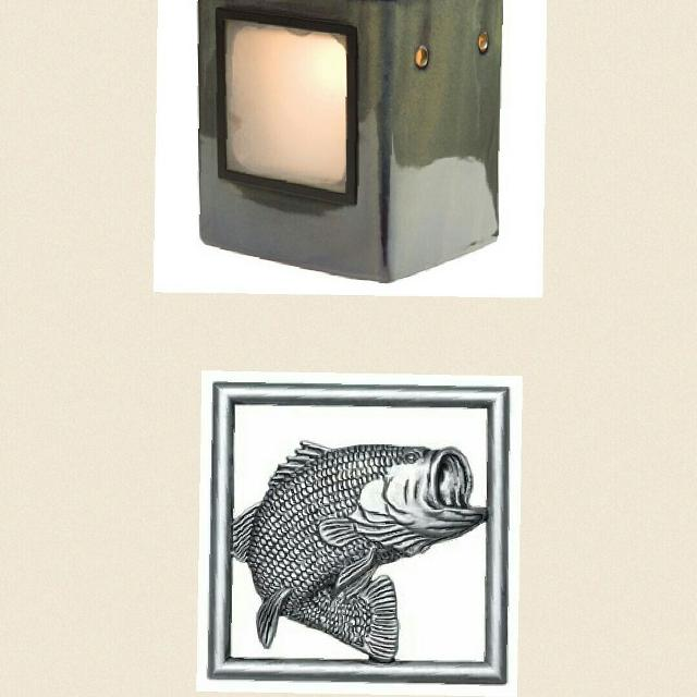 Find more Scentsy Cube Moss Warmer With Bass Fish Frame for sale at ...