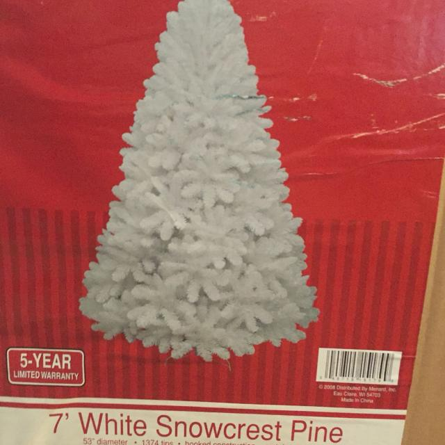 Find More 7 Foot White Snow Crest Pine Christmas Tree For