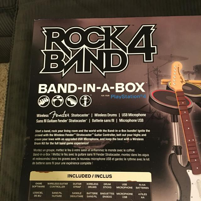 PS4 Rock Band 4 band in a box brand new! Never opened!