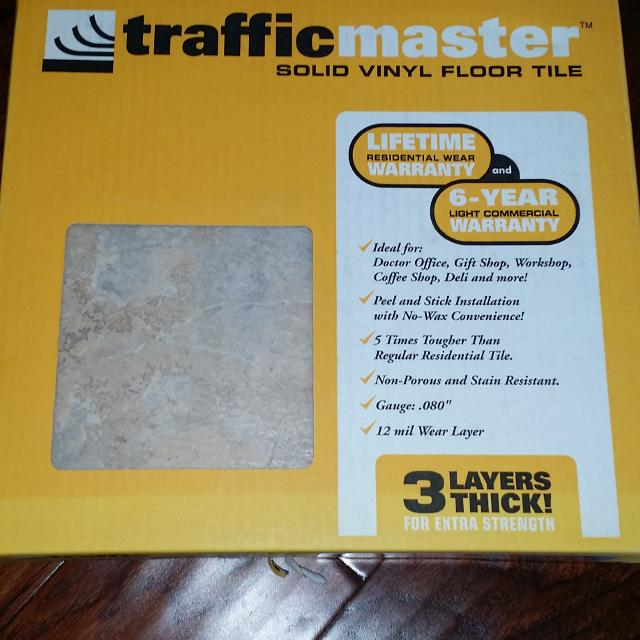 Find More Trafficmaster Solid Vinyl Floor Tile 30 Square Feet For