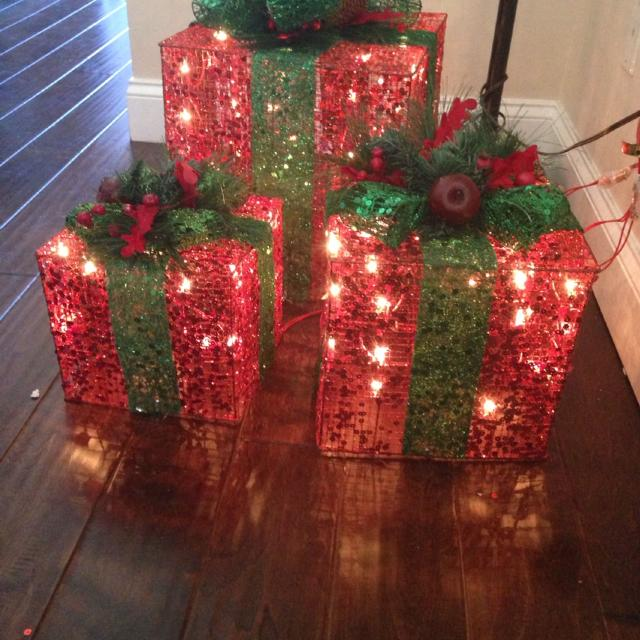 beautiful indoor or outdoor christmas present light up boxes from kirklands you can use on