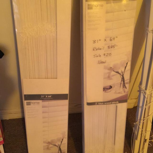 Find More 2 Faux Wood White Blinds Size 31 X 64 Nib For Sale At Up