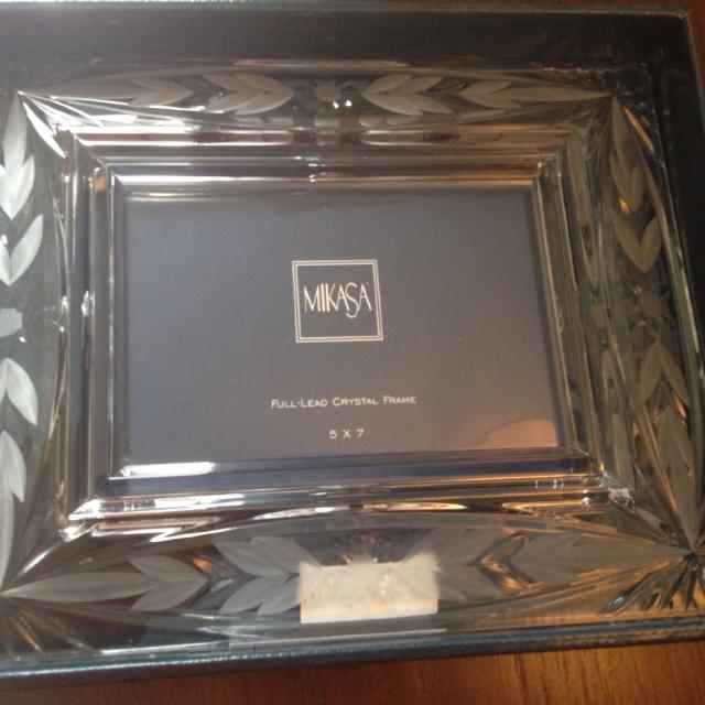 Find more Mikasa. Full Lead Crystal. 5x7 Picture Frame. Nib. for ...