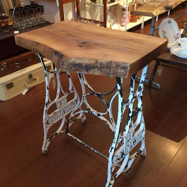 Best Hallway Table Made With Live Edge Hardwood And Sewing Machine Impressive Edging Sewing Machine For Sale