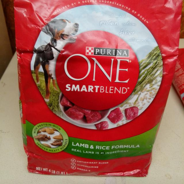 Purina One Smartblend Dog Food Lamb And Rice Antioxidant With Glucosamine And Omega 6 4 Lb Bag 3 Each I Have 5 Target Thursday