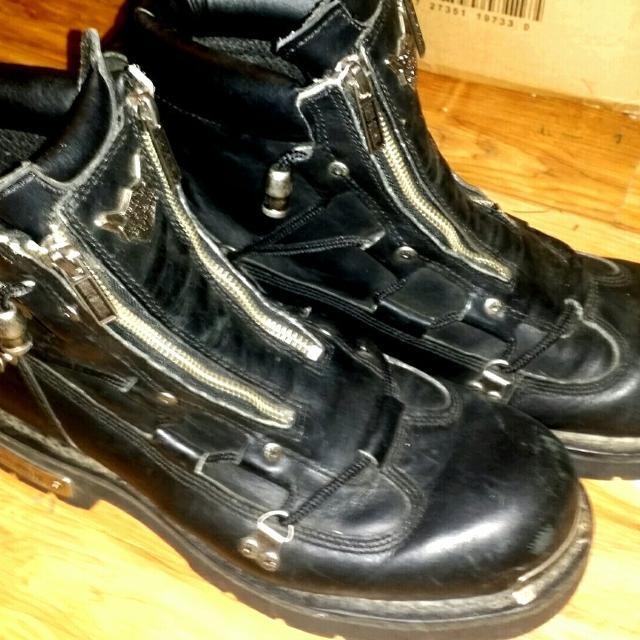 2ee39a35587f15 Find more Men s Harley Davidson Brake Light Boots Size 10.5  100 Obo ...