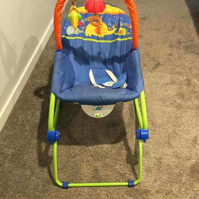 find more fisher price elephant friends vibrating baby rocker chair