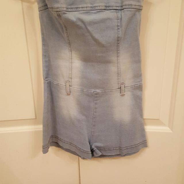 6615609076d Find more Cute For Rodeo! Forever 21 Strapless Tube Top Light Denim ...