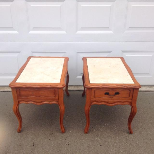 Find More Mersman Made Solid Wood End Tables With Drawers