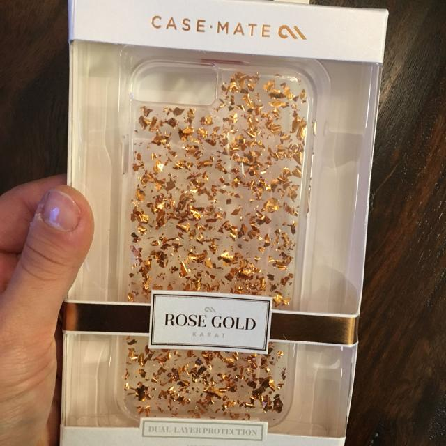 iPhone 6s or 6 14 karat rose gold flakes case. NEVER BEEN OPENED PRICE  REDUCED 15bcfcbee