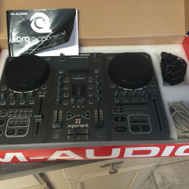 Used M-Audio Xponent DJ controller for torq Dj software  Dj Software can be  downloaded on line for use with this controller