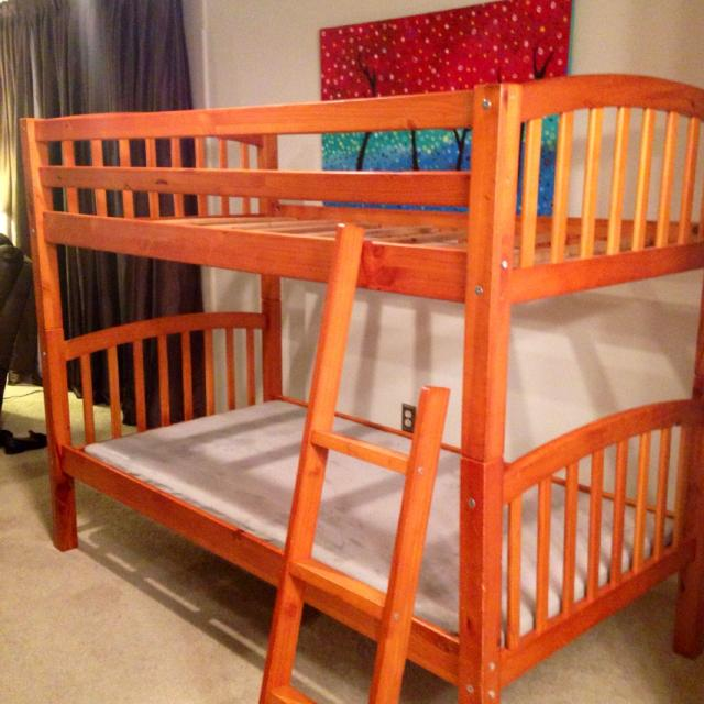 Find More Twin Bunk Beds Removable Ladder And Safety Rails Wood