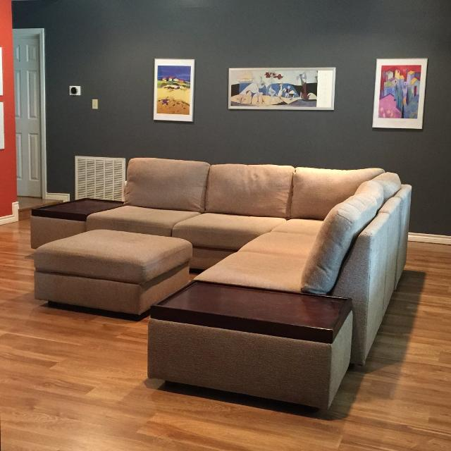 Find More Sectional Sofa Couch With Two End Tables And Storage