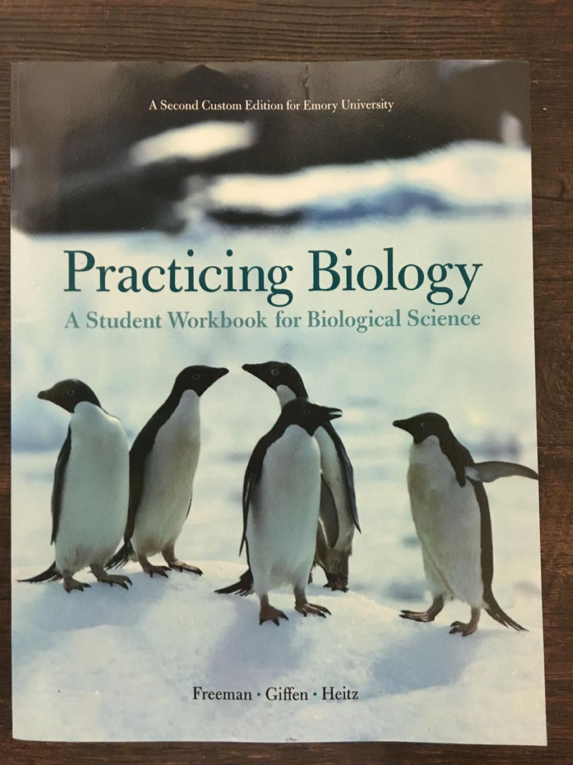 Best practicing biology workbook pearson emory university second edition for sale in atlanta georgia for 2017