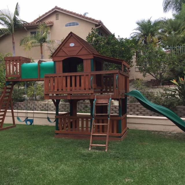 Best Woodridge Ii Wooden Swingset Playset For Sale In Irvine