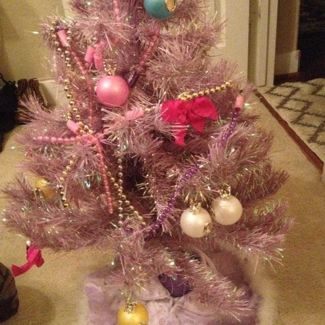 Best Little Girls Pink Disney Christmas Tree With Decorations And