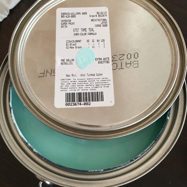 Tame Teal By Sherwin Williams Super Paint Asking 35 00 I Paid 50 Plus Tax