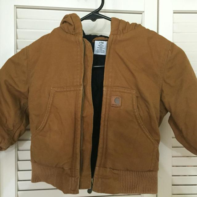 cdce62c1bfb1 Find more Excellent Condition 24 Month Boys Carhartt Coat With Hood ...