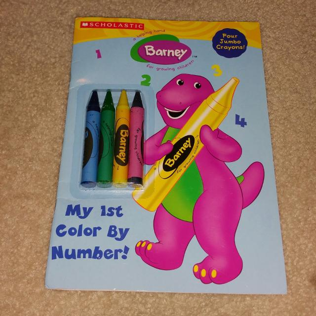 Find more Barney Coloring Book W/thick, Chunky Crayons for sale at ...