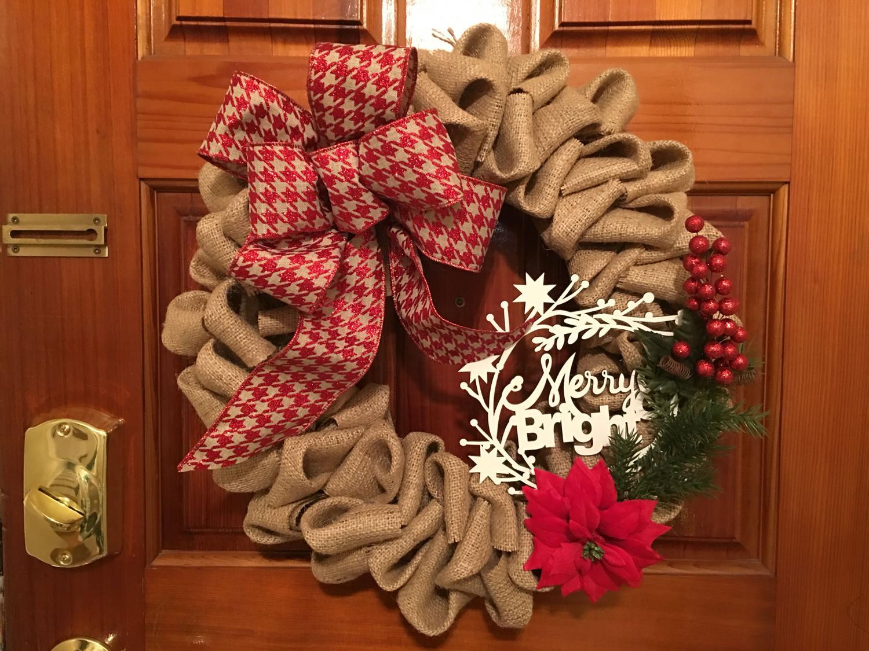 Christmas Burlap Wreath 19