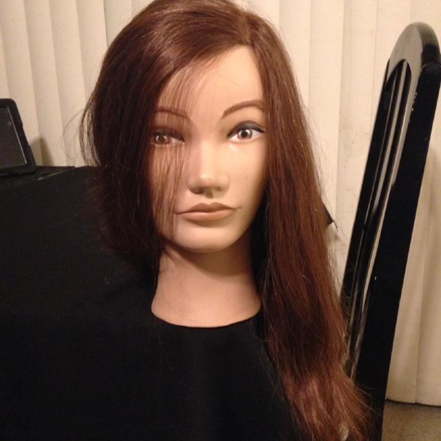Pivot Point Long Hair Doll Head Vanessa