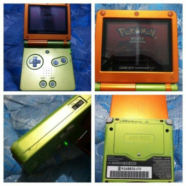 best rare orange and lime green gameboy advance sp for sale in