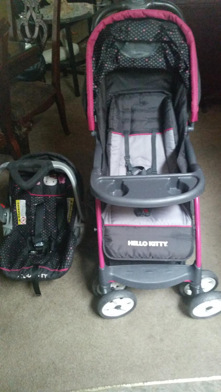 620f8a823daa Best Hello Kitty Car Seat And Stroller Set Baby Trend Brand for sale in  Medford
