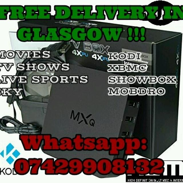 ANDROID TV BOX FULLY LOADED FREE DELIVERY IN GLASGOW AND LOCAL AREAS