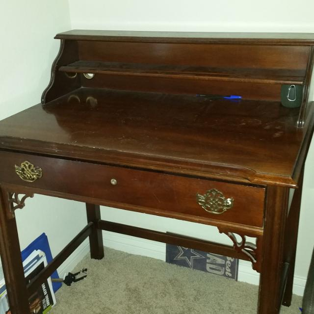 National Mt Airy Antique Desk Solid Wood Good Condition