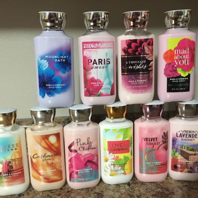 Best new bath body works 8oz body lotions 10 for Bath and body works scents best seller