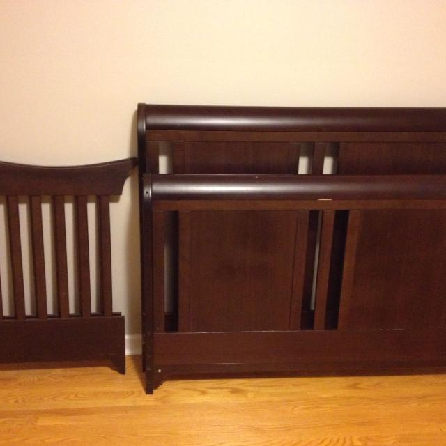 Best Sleigh Bed Convertible Crib 100 Obo For Sale In Oshawa