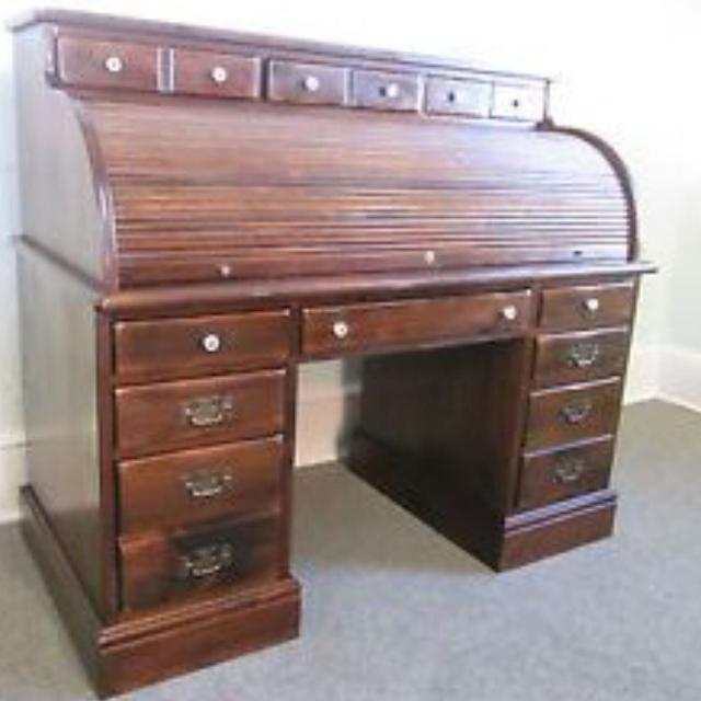 Ethan Allen Roll Top Desk