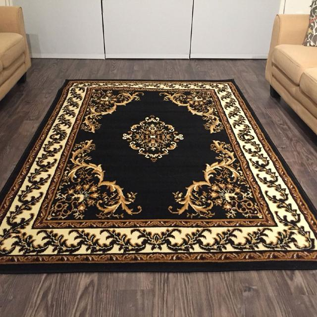 Best Traditional Medallion Persian Style Area Rugs 5x8 7x10 Black For Sale In Rowlett Texas