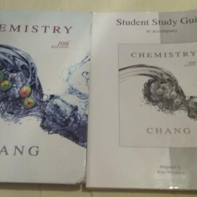 General chemistry textbook with workbook