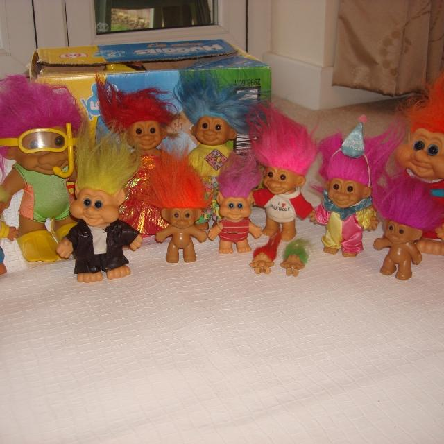 Job Lot Vintage Rare Russ Trolls Collectables Items In Great Condition Due To