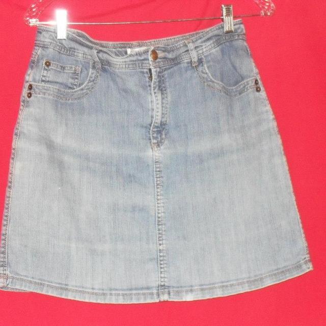 Best Croft   Barrow Faded Denim Skort 10 Blue Jean Mini Skirt Short Combo  Casual for sale in Denton 54876f7b9