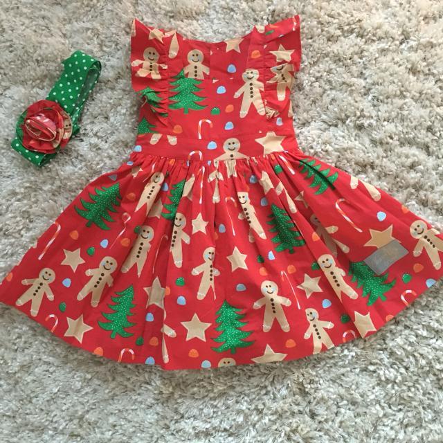 eleanor rose 2t christmas cookie dress