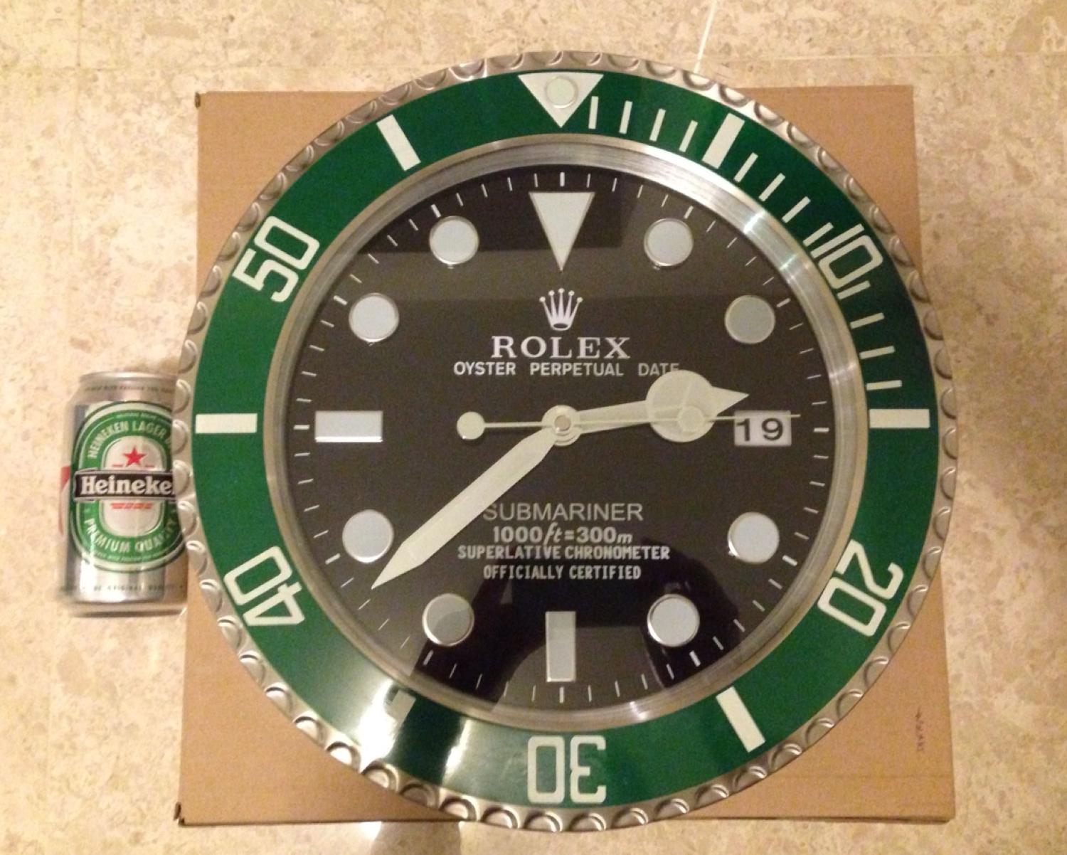 Best new rolex submariner green hulk 34cm wall clock for sale in best new rolex submariner green hulk 34cm wall clock for sale in richmond hill ontario for 2018 amipublicfo Gallery