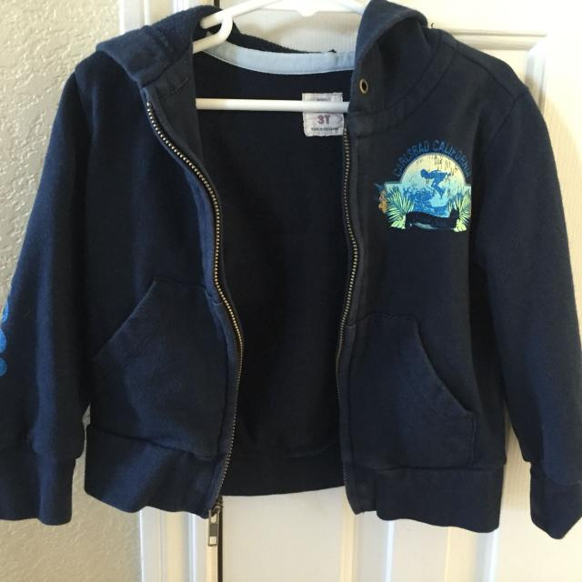 Best Old Navy 3t Zip Up Sweater California Blue Hoodie for sale in ...