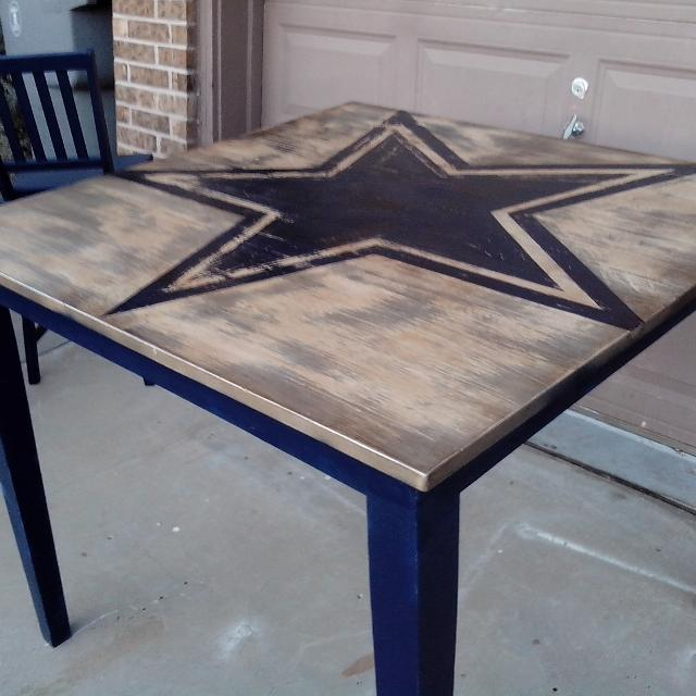 Find More Bar Table And Swivel Stools Dallas Cowboys For Sale At - Dallas cowboys picnic table